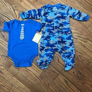 NWT onesie & footed pj's
